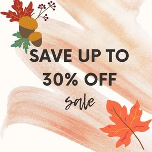 SAVE UP TO 30% OFF BUNDLES!!!